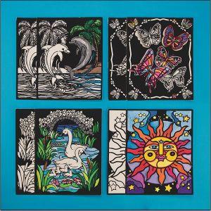 Velvet Art 3-D Posters (pack of 24) (PS1383)