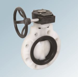 PVDF Worm-Gear Plastic Butterfly Valve pictures & photos