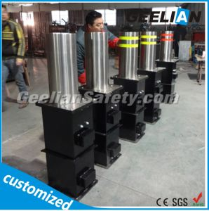 Car Parking Traffic Protect Stainless Steel Automatic Rising Hydraulic Bollard pictures & photos
