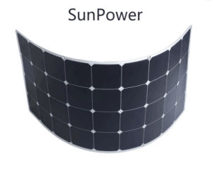 TUV Certified Sunpower High Efficiency Solar Cell 120W Semi Flexible Solar Panel pictures & photos