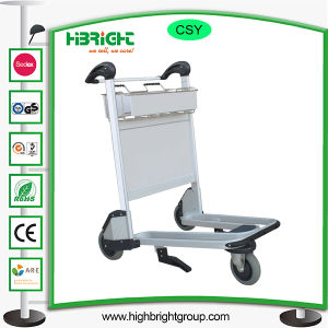 Hand Brake 3 Wheels Airport Baggage Luggage Trolley Cart pictures & photos