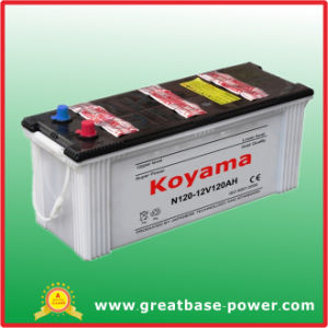 N120 Dry Charged Automotive Battery 120ah 12V pictures & photos