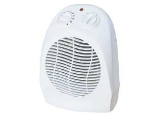 Portable Plastic Fan Heater, Electrical Mini Desk Heater