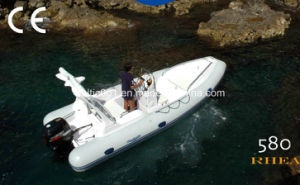 China Rigid Hull Inflatable Boat 580 Made of 1.2mm PVC