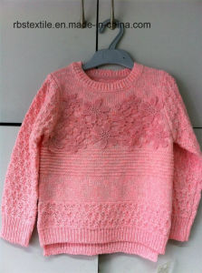 Girls Even Twist Texture Knitted Sweater pictures & photos