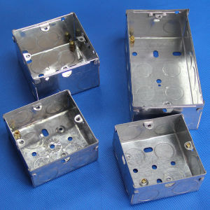 3*3 1 Gang Single Electrical Steel Outlet Boxes (MB) pictures & photos
