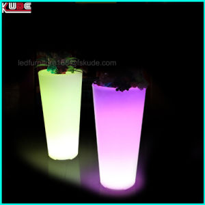 Plastic Flashing Light up Entrance Flower Pots Outdoor Floor Lamps pictures & photos