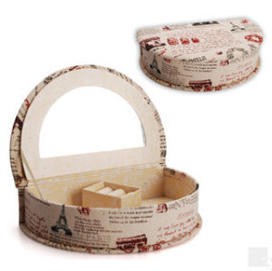 Semi-Circle European Printed Jewelry Collection Box pictures & photos
