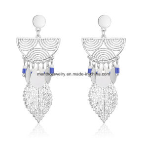Statement Fashion Women Plating Hollow Dangle Stud Earrings Jewelry pictures & photos