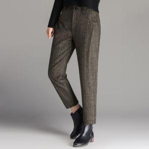 Wholesale Winter Grey Suit Pants Women Harem Pants pictures & photos