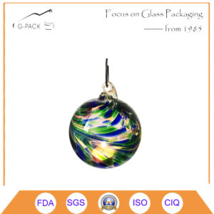 Colored Glass Ball with Hook for Tea Light Candle pictures & photos