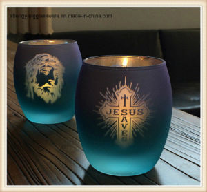 Plating Holiday Articles Glass Candle Holder Cup pictures & photos