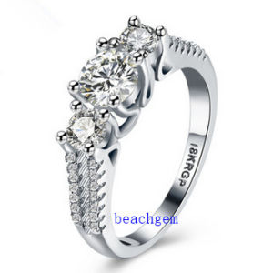 Hot Sell Jewelry- Cubic Zirconia Brass Rings (R0839)