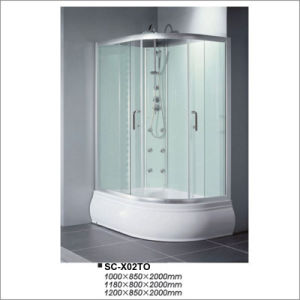 Reversible Shower Cabin with Oval Tray pictures & photos