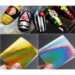 Nail Art Line Strip Tape Sheet Ultra Thin Laser Sticker Decal Decoration (D36)