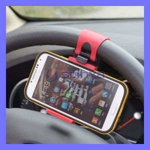 Clip Car Vehicle Mount Cradle Steering Wheel Holder for iPhone 5 6 Samsung S5 S6 HTC Smart Phone GPS pictures & photos