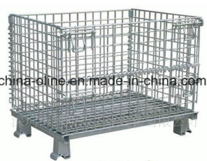 Folded Stackable Wire Mesh Container pictures & photos
