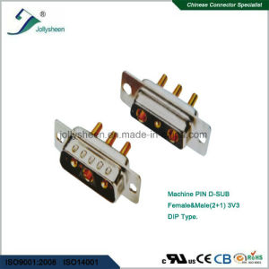 D-SUB  Machine Pin (2+1) 3W3 Soldering Type Male and Female pictures & photos
