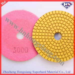 "Factory Direct Sale 4"" 100mm Diamond Flexible Wet Polishing Pads pictures & photos"