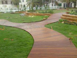 Popular Brazilian Teak Outdoor Decking Floor for Garden Balcony pictures & photos