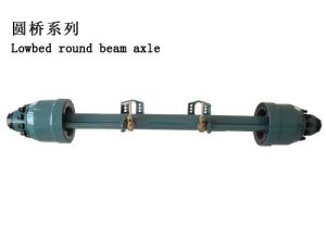 Round Axle Tube Beam Lowbed Semi Trailer Axle pictures & photos