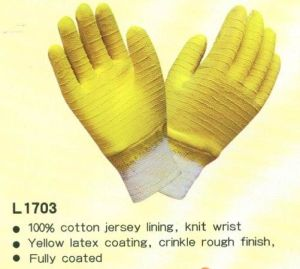Latex Coatng Gloves, Heavy Duty pictures & photos