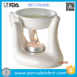 White Hand Ceramic Candle Holder pictures & photos