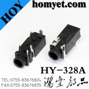 3.5mm 5pin DIP Phone Jack with Two Dowel Pin (Hy-328A) pictures & photos