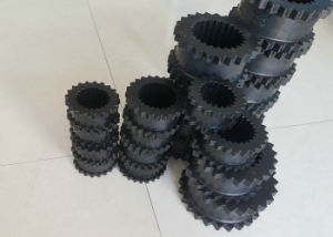 Black Color Rubber Gear Coupling, Rubber Gear Sleeve 3-14j Made with Virgin Csm+SBR pictures & photos