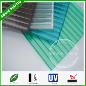 Ten-Year Guarrantee Polycarbonate Hollow Roofing Policarbonato Solid PC Corrugated Sheet pictures & photos