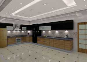 UV High Glossy Hotel Kitchen Cabinet (BR-U007) pictures & photos