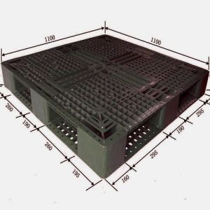Standard Size Heavy-Duty Plastic Pallet for Storage and Logistics pictures & photos