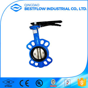 Best Seller Ductile Iron Wafer Type Flange Butterfly Valve Dn200 pictures & photos