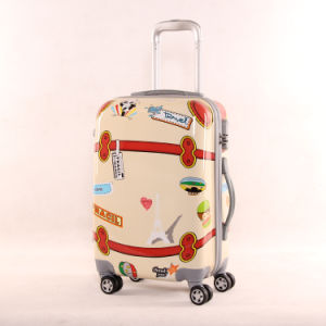 Cartoon Mirror PC Universal Wheel Luggage Case Children′s Pull Rod Box 20 Inch 24 Inch Suitcase Student Luggage pictures & photos