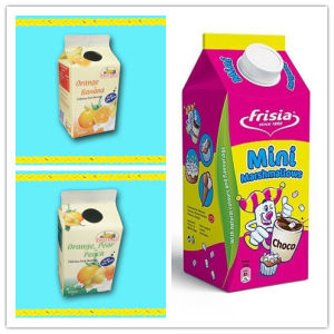 500ml 3 Layer Fresh Milk Gable Top Paper Box pictures & photos