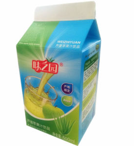 Carton Box for 500ml 6-Layer Aloe and Apple Juice pictures & photos