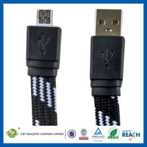 2m 6 Ft Flat Micro USB Data Sync Charging Cable pictures & photos