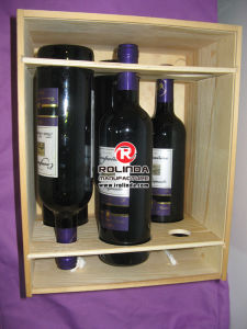 Pine Wood Wine Box Six Bottles pictures & photos