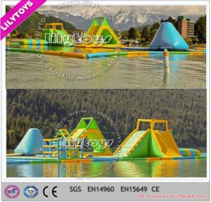 2017 Best Large Green Inflatable Water Trampoline Game Floating Water Sport Game for Adult (J-water park-132) pictures & photos