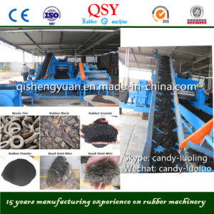 Wast Tyre Recycling Process Machines & Rubber Granule Process Line pictures & photos