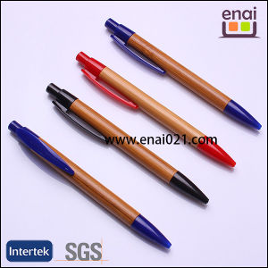 Eco Freidly Wood Click Ball Pen with Plastic Clip (EN-W1002)