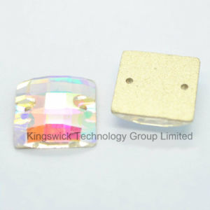 Square Faceted Flat Back Sewing Glass Rhinestone pictures & photos