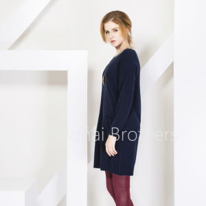 Women′s Round Neck Cashmere Sweater (16brss113) pictures & photos