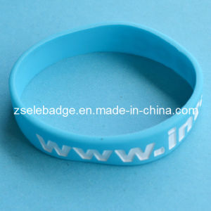Sky Blue Silicone Wristband with Color Painted (ele-SW005) pictures & photos