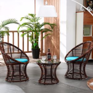 1+2 Tables and Bar Stools Leisure Rattan Wicker Table Garden Furniture Sets Z308 pictures & photos
