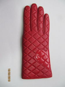 Lady Fashion Leather Gloves (JYG-21010) pictures & photos
