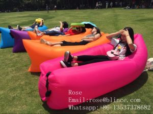 Factory Direct Sale 1.3kg 210t Polyester Waterproof Outdoor Inflatable Sofa Air Bed pictures & photos