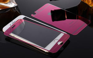 Tempered Glass Screen Protector for iPhone 6/6s Plus Electroplating Purple Color pictures & photos