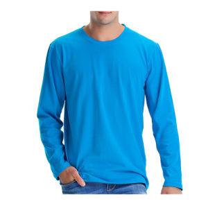 Wholesale Men′s Long Sleeve Plain T-Shirt pictures & photos