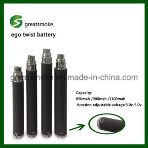 6 Moths Warranty 650/900/1100/1300mAh EGO Spinner Battery for Electronic Cigarette